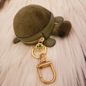 Tory Burch turtle coin pouch/ key fob/ bag charm